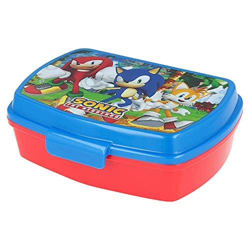 | Sonic | Sandwich-broodrooster, voor kinderen, gedecoreerd – lunchbox voor lunch en lunch voor school – lunchbox
