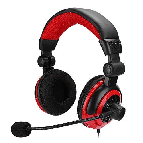 Dpofirs Auriculares Profesional con Micrófono para Juegos, Gaming Auriculares Portátiles de Casco...