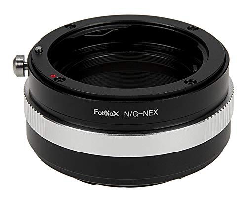 Fotodiox NIKON-G-NEX cable para cámara fotográfica, adaptador - Adaptador para objetivo fotográfico (Negro, Aluminio, Sony Alpha a7, a7r, NEX-3, NEX-5, NEX-C3, NEX-5N, NEX-7, NEX-F3, NEX-5R, NEX-6, NEX-VG10, NEX-VG20,)