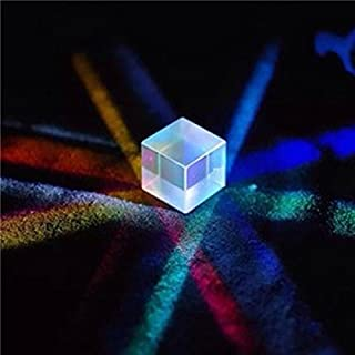 CynKen 1Pcs 30x30x30mm Optical Glass RGB Dispersion Prism X-Cube for Physics Teach Decoration Art
