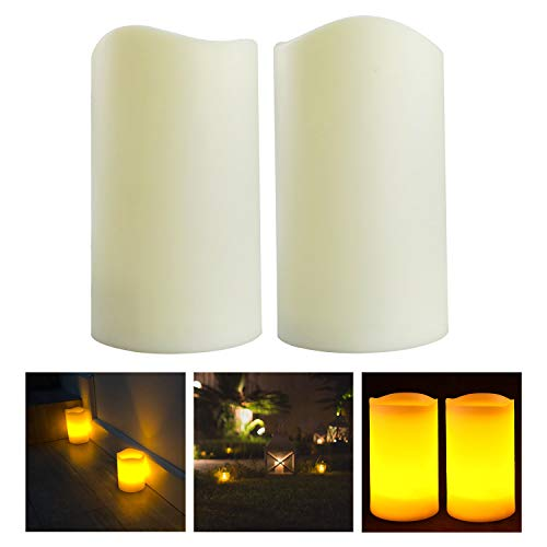 Mooncandles Duo - 2 Outdoor Flameless Candles with Timer