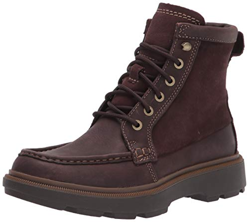 Clarks Men's Dempsey Peak Ankle Boot, Dark Brown Leather, 10M