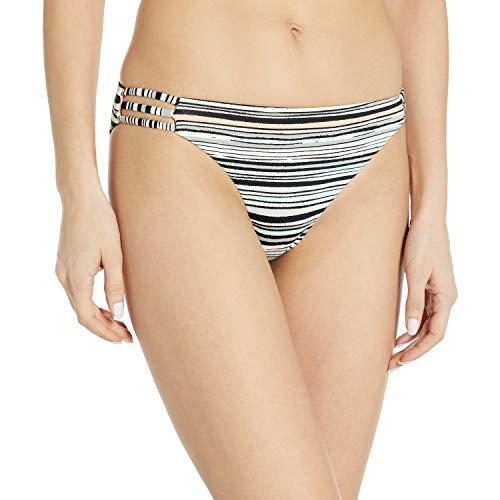 Roxy Junior's Girl of The Sea Scooter Bikini Bottom, Marshmallow Alexa Stripe, L