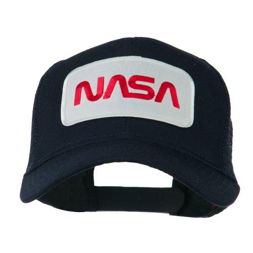 e4Hats.com NASA Logo Embroidered Patched Mesh Back Cap - Navy OSFM