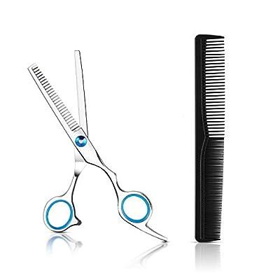 Hair Thinning Scissors Hairdressing Shears Stainless Steel Hair Cutting Scissors Professional Haircut Scissors Salon & Barber Texturizing Scissors for Kids Women Men Family Use(Blue)