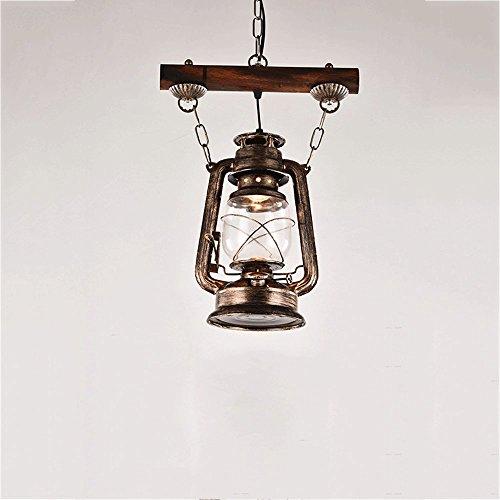 KMYX Vintage lámpara de queroseno lámpara de techo de hierro lámpara colgante decoración pabellón barra de luz de suspensión café loft restaurante lámpara decoración pasillo sala luces colgantes