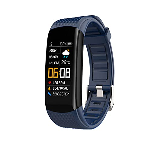 LSQ 2021 New C6T Temperatura Corporal Smart Bracelet Watch IP67 Impermeable Monitor de frecuencia cardíaca Monitor Smartband Pulsera Fitness Tracker,A