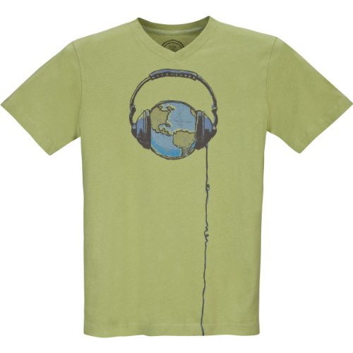 Life Is Good Men's Creamy Vee Earth T-Shirt, XX-Large, Sprout Green