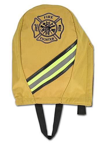 Lightning X Fireman's SCBA Air Pak Respirator Firefighter Mask Face Piece Bag, Fleece Lined for First Responder - Ripstop Turnout Tan