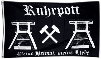 Flagge Deutschland Ruhrpott Ruhrgebiet 2 - 90 x 150 cm
