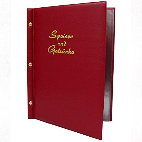 Decor Service Menus, PVC, vin Rouge, 18,5 x 1 cm