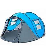 Abierto tienda de campaña de campaña emergente Camping al aire libre Senderismo temporada automática Tienda Velocidad a prueba de lluvia Familia Playa gran espacio