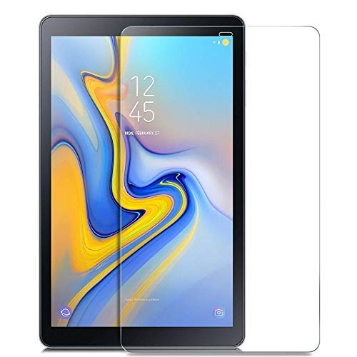 TECHSHIELD® Tablet tempered glass 2.5D Curved .3m Screen Protector [EDGE TO EDGE] Compatible with Samsung Tab A [10.5 inch] [2018 model] SM-T590 (Wi-Fi); SM-T595 (LTE),[FLEXIBLE]