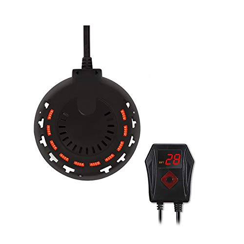 SMYH Pequeño Mini Calentador De Acuario,Redondo Antiexplosión Cuarzo Calentador Pecera con Pantalla LED De Temperatura Y Controlador De Temperatura Externo (300W, 500W, 800W)