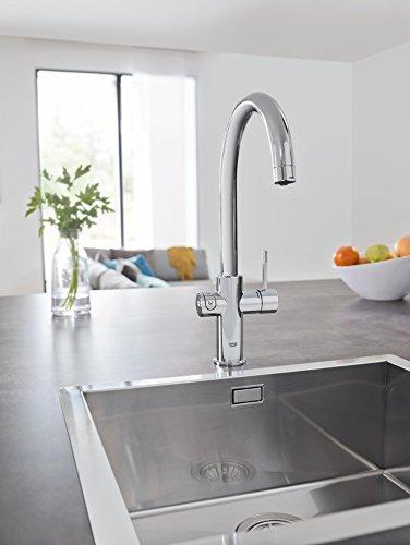 Grohe Blue Home Duo – 2-in-1 Trinkwassersystem und Küchenarmatur (gekühlt, gefiltert, mit Kohlensäure, C-Auslauf) 31455000 - 7