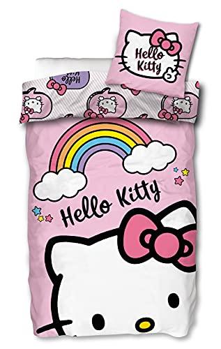 Skyebrands HK005 - Biancheria da Letto per Adulti, 140 x 200 cm, Motivo: Hello Kitty