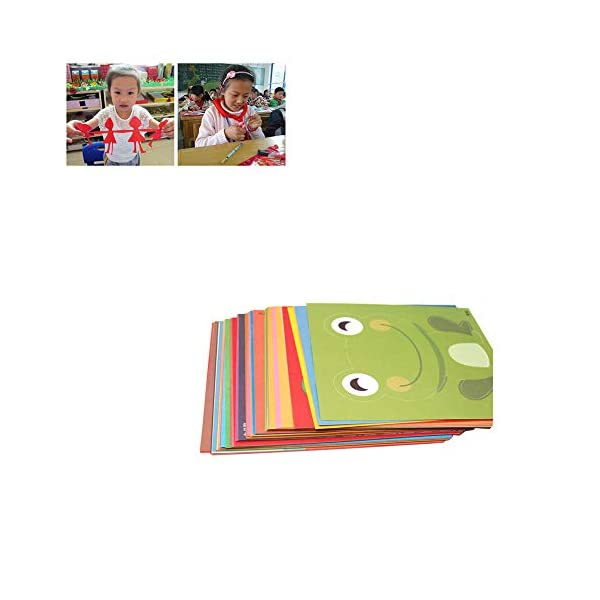 Origami para niños Tijeras artesanales de papel colorido Kits Papercraft papel de bricolaje para proyectos de artes y manualidades para preescolares Gran 96pcs verdes