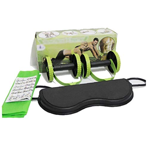 Bauch Multifunktionale Trainingsgeräte Ab Wheel Doppel Roller Mit Widerstand-bänder/Kniematte Taille Abnehmen Muskeltrainer Workout-Tool Zu Hause Gym