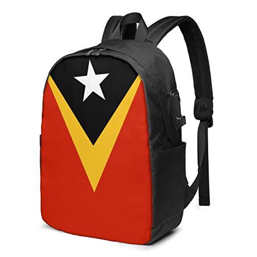 XCNGG Bandera de Timor Oriental Mochila para portátil de Viaje Mochila Escolar universitaria Mochil