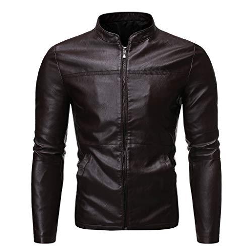 Best Prices! Letdown_Men Hoodies Men Winter Leather Jackets Slim Fit Zip Up Flight Bomber Biker Moto...