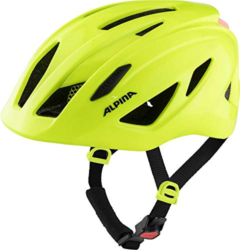 ALPINA Pico Flash, caschi Unisex-Youth, be Visible Gloss, 50-55 cm