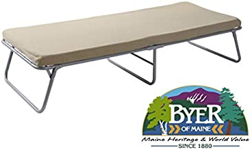 """BYER OF MAINE Collapsible Steel Frame Cottage Cot Bed, Swedish Bed, Set Up Dimensions are 75""""L x 31""""W x 17""""H and Folds Up for Storage to only 37H x 32W x 7"""