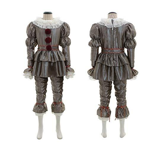 AHJSN Halloween Costume è Clown Adulto Cosplay Costume Halloween Party Abito per Uomo e Femmina Maschio-S Forma Americana di Grey