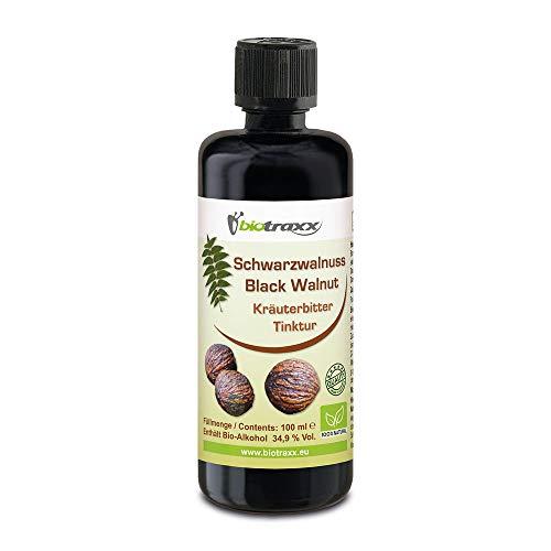 Biotraxx 100% Natural y Puro Tintura de Nogal Negro   100 ml   Para aliviar dolencias digestivas   Botella de vidrio de farmacia con pipeta   Hecho en Alemania