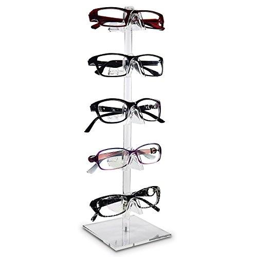 Marketing Holders 5 Tier Stationary Rack Eyewear Counter Display Sunglasses Eyeglasses or Readers Showcase Stand
