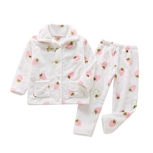 Amuse-MIUMIU Mädchen Jungen Hausanzug Flanell Langarmshirt und Hose Kinder Gemütlich Tops Schlafanzüge Winter Pyjama für 1-8 Jahre Jungen, Langarm Zweiteiliger Hausanzug