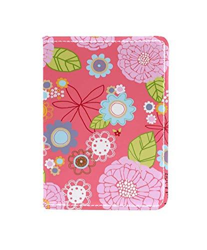 Floral Flower Passport Holder Cover Wallet,RFID Blocking Card Case Travel Passport Organizer Protector