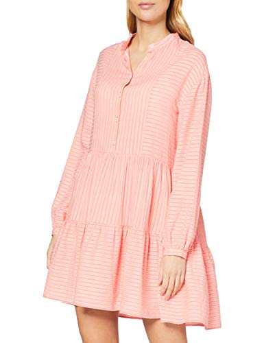 Marc O´Polo Denim Damen 043102221137 Kleid, Rosa (Multi/Soft Coral S71), X-Small (Herstellergröße: XS)