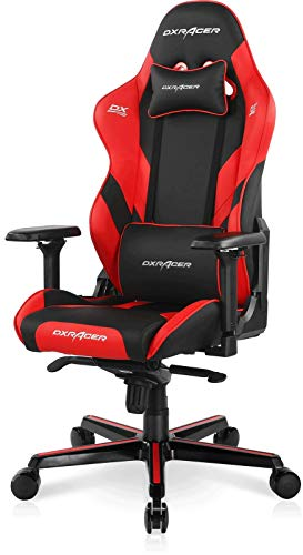 DXRacer G Series Module Ergonomic Office Executive, Video Game Chair   4D Metal Armrest, Replaceable Seat Cushion, Standard, Black and Red