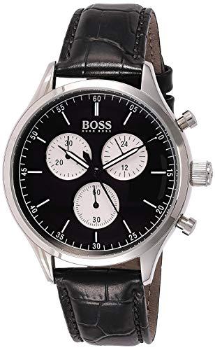 Hugo BOSS Reloj Cronógrafo para Hombre de Cuarzo con Correa en Cuero 1513543
