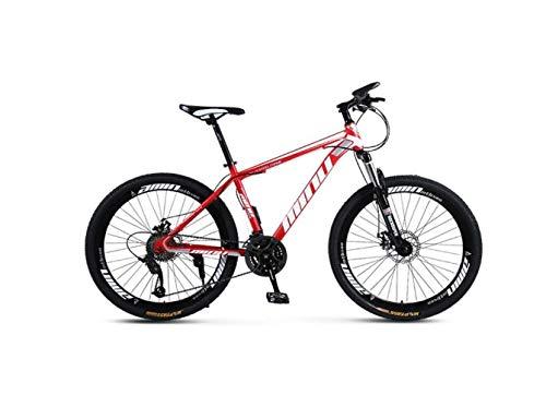Bicicleta de Montaña Bicicleta de Montaña para Adultos 26 Pulgadas 30 Velocidades de una Rueda Todo Terreno, Velocidad Variable, Amortiguadores, Hombres Y Mujeres, Bicicleta Bicicleta,B,UNA