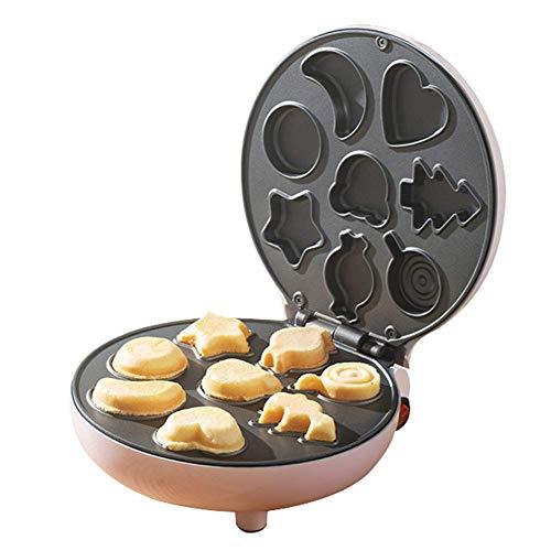 YFGQBCP Fabricante de pasteles, Snack múltiples funciones de Hornear Postre fabricante de bicarbonato de diversión torta, revestimiento antiadherente cocinar superficies de cocción que hace la máquina
