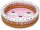 Piscina Familiar Piscina Inflable para niños 3 Capas Redonda Helado Piscina para niños Piscina de Verano para niños Piscina de Agua para niños Piscina para bebés Piscina de Bolas