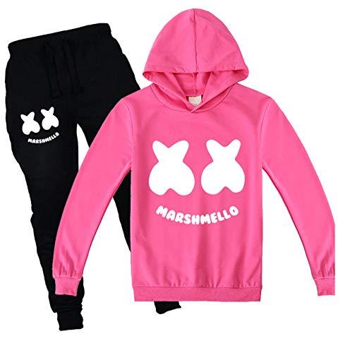 mama stadt Hoodies Sweatshirt mit Kapuze und Hosen Sportswear Sets für Mädchen Jungen Drucken Trainingsanzüge Sportanzug Zweiteiliger/150