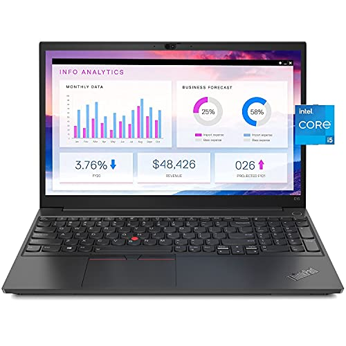 "2021 Lenovo ThinkPad E15 15.6"" FHD (1920x1080) Business Laptop (Intel Quad Core i5-1135G7(Beat i7-8665U), 16GB RAM, 512GB SSD) Thunderbolt 4, Iris Xe Graphics, Windows 10 Pro IST Computers"