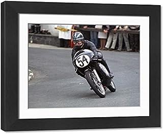 Framed 17x13 Print of Bob Ware (Bultaco BSA) 1969 Ultra Lightweight TT (20112543)