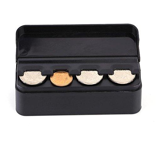 Car Coin Holder, UK Portable Plastic Car Coin Holder Organizer Coin Storage Box for Car, Trunk & Van