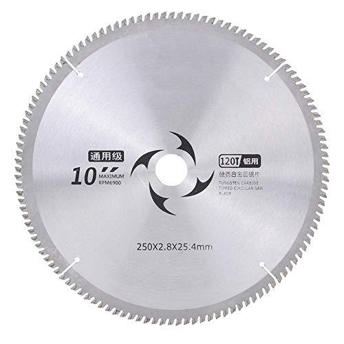 Hoja de Sierra, Corte de Metal Aluminio Circular Discos Corte Circular Cortador de Madera Universal Discos Aleación Dura Herramienta (120T)