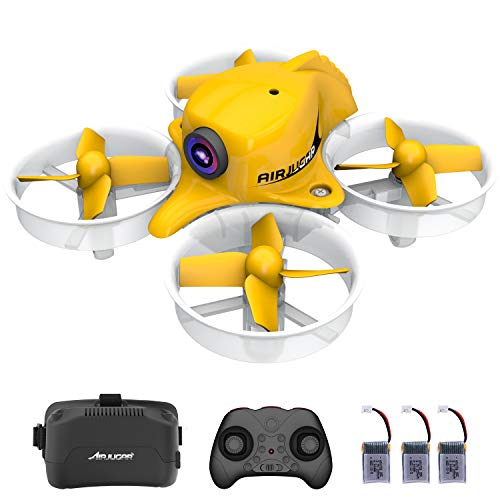 AIRJUGAR Mini Drone Nano Quadcopter 2.4ghz 6 Axis Gyro Drones for Kids and Beginners, Pocket Helicopter with Altitude Hold, Headless Mode, One Key Return, 3D Flips with 3 Batteries (AJ1001)