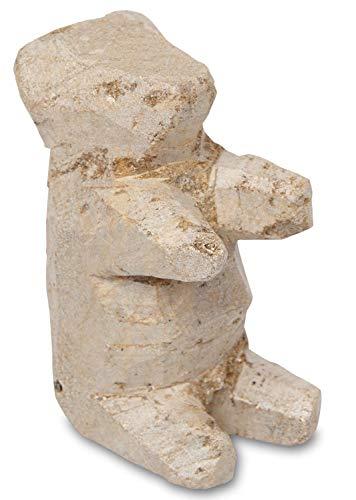 Honsell 79421 Rohling Braunbär, vorgefertigte Figur aus Speckstein, ca. 10 cm groß, zum Bearbeiten mit Raspel und Feile, ideal auch für Kinder, bunt