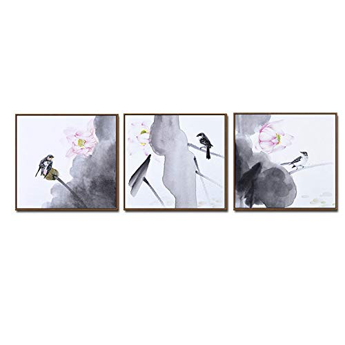 WSNDGWS Chinese stijl Simulatie Inkt Schilderen Home Decoratie Canvas Schilderen Zonder Beeld Frame 50x50cm G4