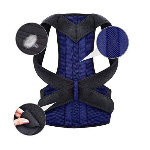 DSJTCH Atrás Cintura Postura Corrector Ajustable Corrección Adulto Cinturón Cintura Traisor de Cintura Hombro Lumbar Strace Soporte de la Columna Vertebral Chaleco (Color : Blue, Size : 3X-Large)