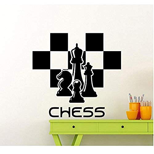 Pegatinas de pared y murales Calcomanía de ajedrez Piezas de ajedrez Pegatina de pared Chessmen Mural Home Living Room Design Interior Art Decoration Vinyl Sticker 63 * 58com
