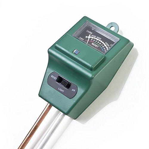 Q.A Tester Sol 3 in 1 Mit Test der Feuchtigkeits- / pH/Licht Hygrometer aus dem Wasser auf Sensor-Anlage im Garten von Rasen, Innen Farm und Aussen