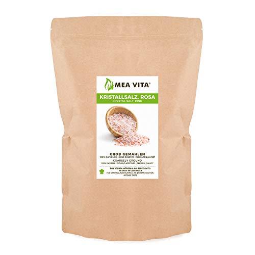 Sal de cristal MeaVita, tamaño de grano grueso 2-5 mm, 1 paquete (1x 1000g) en una bolsa
