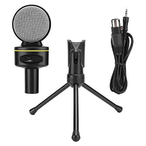 Richer-R Recording Microphone, Wired Microphone Professional Computer Gaming Accessory Desktop Parts, High-Sensitivity Condenser Microphone Plug and Play, for YouTube, Games, Laptop, Computer, Phone